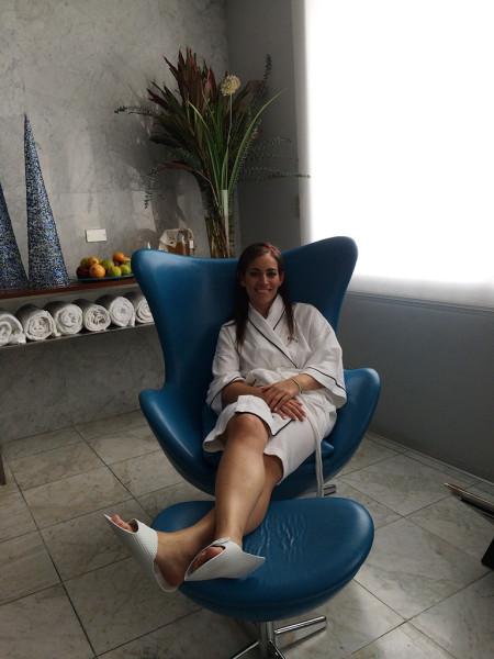 Lista para unos ricos masajes relajantes