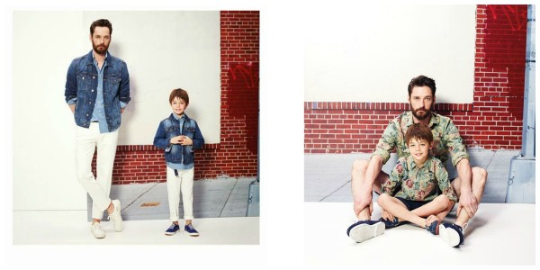 """Estilo """"Mini-me"""" papá e hijo, donde los niños se visten como sus papás. Buenazo!!"""