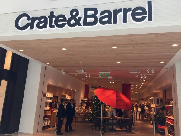 Crate & Barrel salida